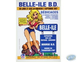 Advertising poster 'Belle-Ile B.D 2007' of Walthéry (Big size)