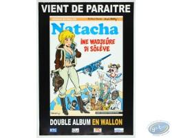 Advertising poster en wallon 'Natacha Ine Wadjeûre di sôlêye' of Walthéry (Big size)
