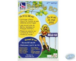 Advertising poster 'Belle-Ile B.D 2012' of Walthéry (Big size)