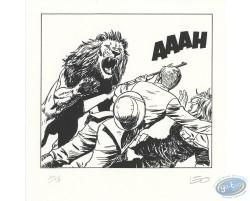 Lion's Attack (b&w)