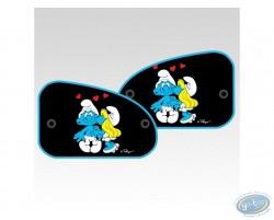 2 sides sun visor XL, Smurfette kiss