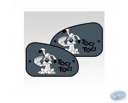 2 sides sun visor XL, Uderzo - Asterix : Idefix : 'Toc-Toc'