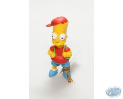 Bart Simpson and his schoolbag