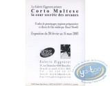 Post Card, Corto Maltese : Corto Maltese Secret yard of the mysteries