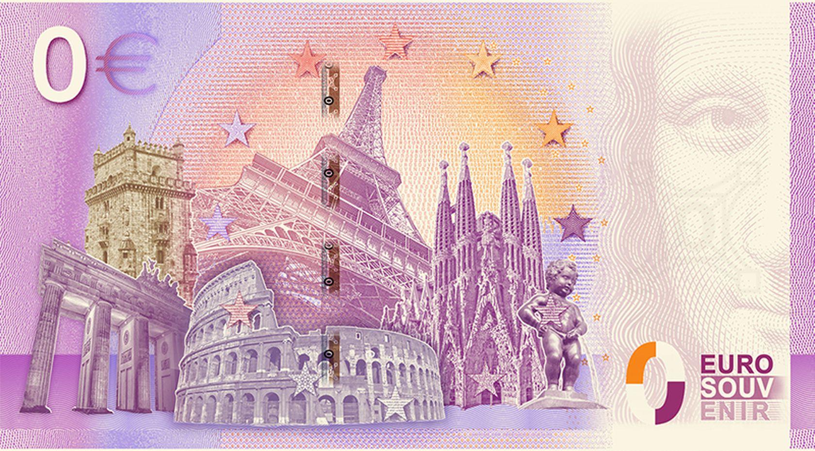 Monnaie Spirou et Fantasio Billet Euro Souvenir 01 Euro Banknote Memory 2