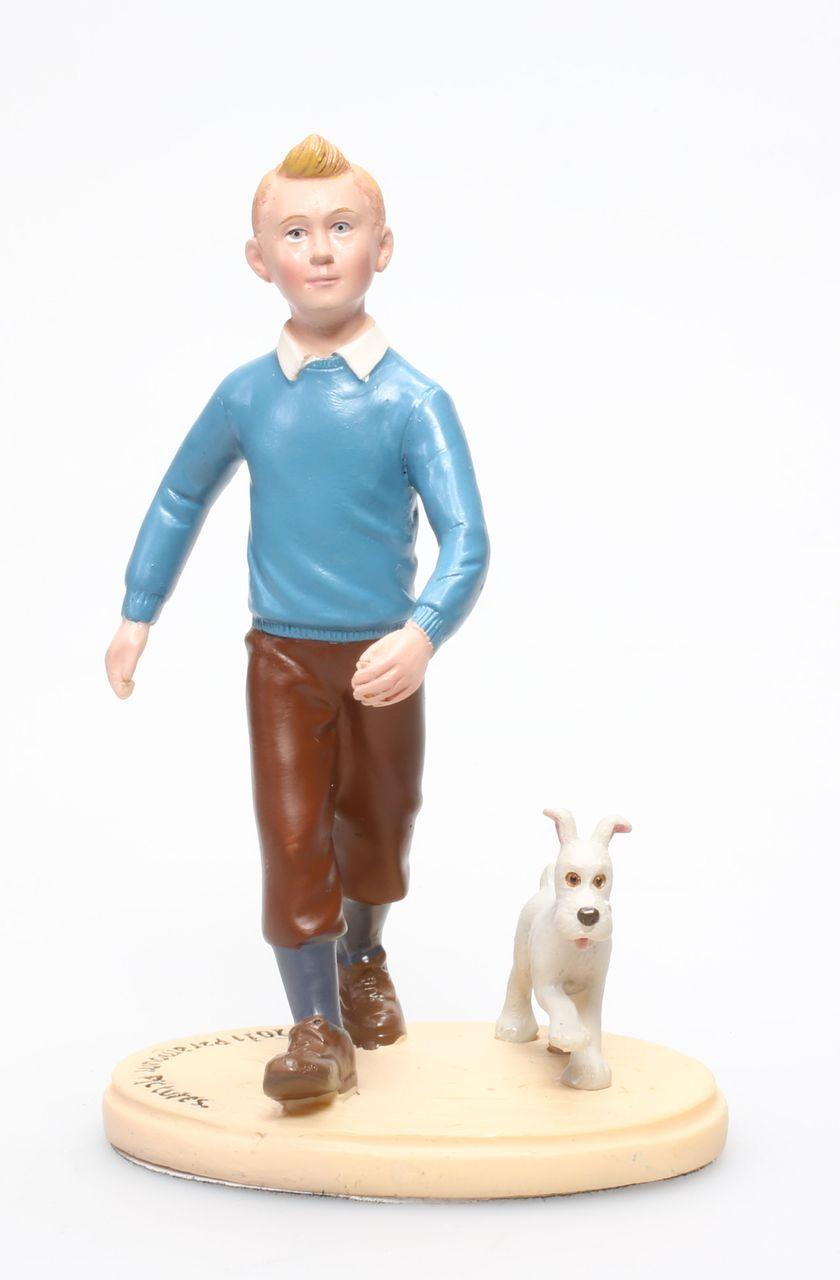Statuette résine Tintin Dupont et Dupond Carrefour Market