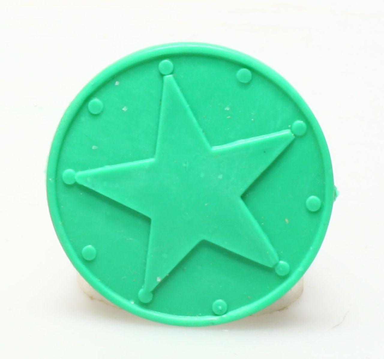 Figurine plastique Astérix Mini Légionnaire triste avec pilum vert foncé Coman
