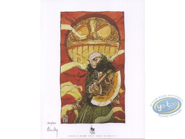 Ex-libris Offset, Cœur de Sang (Le) : Guerrier à la hache