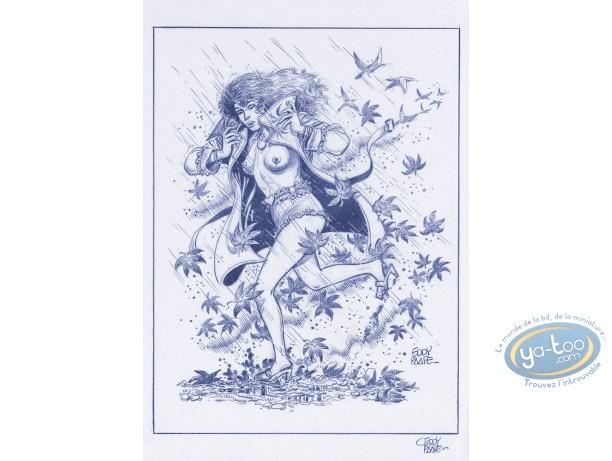 Affiche Offset, Luc Orient : Laura pluie
