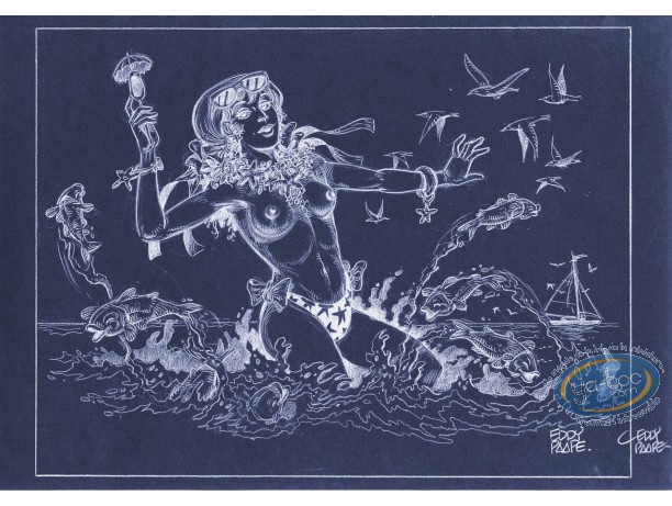 Affiche Offset, Luc Orient : Laura mer (négatif)