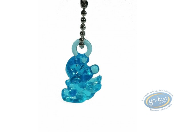 Porte-clé PVC, Schtroumpfs (Les) : Schtroumpf translucide bleu