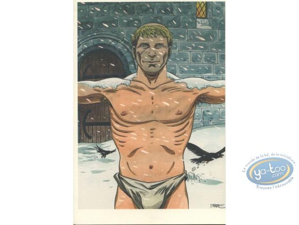 Ex-libris Offset, I.N.R.I. : Homme dans le froid