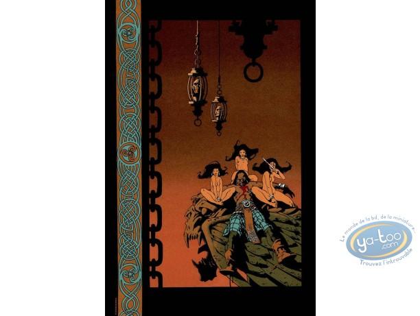Affiche Sérigraphie, Terres d'Ombre : Le repos du guerrier