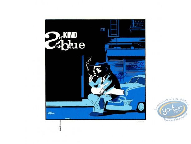 Affiche Sérigraphie, A kind of Miles blue (grande)