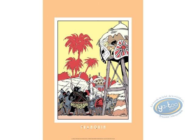 Affiche Sérigraphie, Spirou et Fantasio : La Corne du Rhinocéros