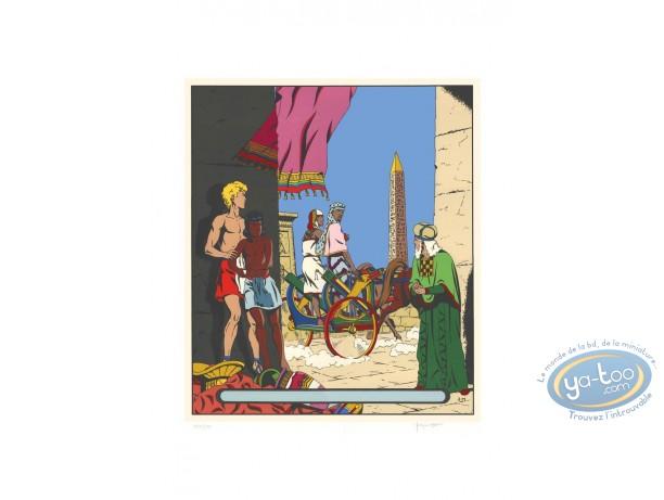 Affiche Sérigraphie, Alix : Le sphinx d'or