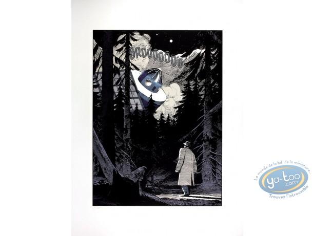 Affiche Sérigraphie, Cités Obscures (Les) : Tryptique l'Enfant penchée