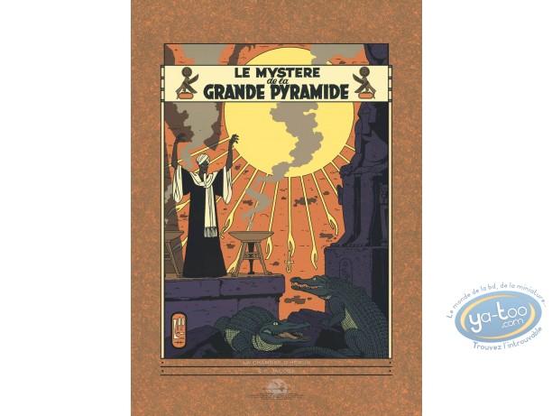 Affiche Sérigraphie, Blake et Mortimer : La grande pyramide