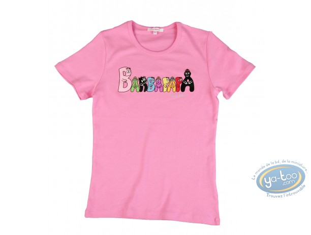 Vêtement, Barbapapa : T-shirt manches courtes lilas Barbapapa: taille S, logo