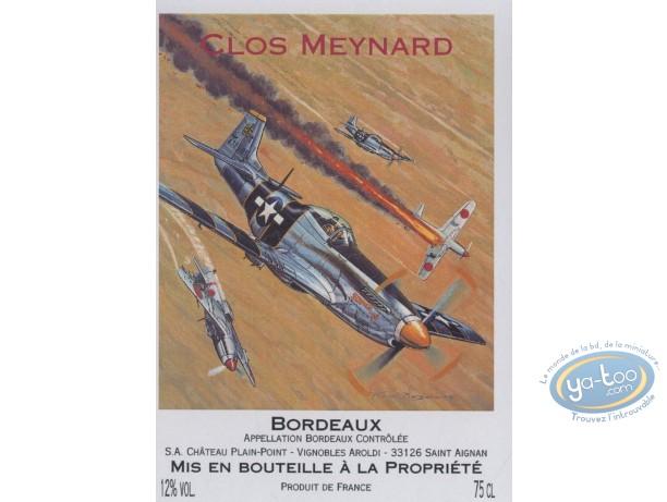 Etiquette de Vin, Buck Danny : Combat - Clos Meynard