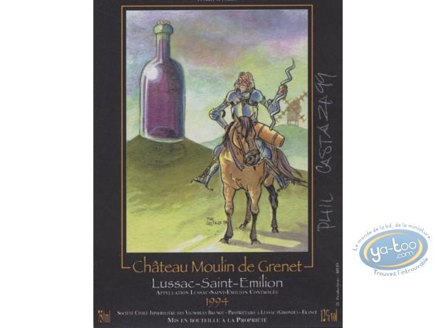 Etiquette de Vin, Don Quichotte - Chateau Moulin de Grenet 1994