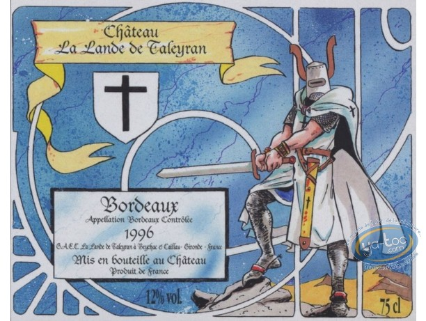 Etiquette de Vin, Chevalier - Chateau La Lande de Tayleran 1996