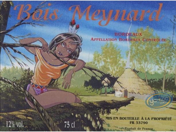 Etiquette de Vin, Pin-Up : Indienne - Bois Meynard