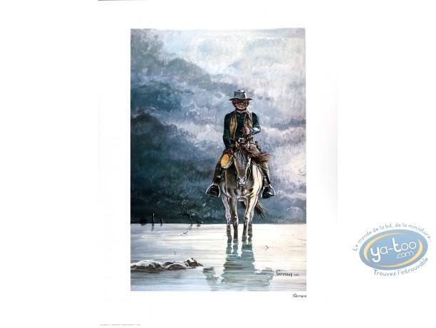 Affiche Offset, Comanche : Red Dust à cheval