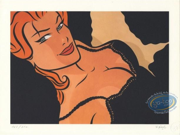 Affiche Offset, Visage de femme rousse