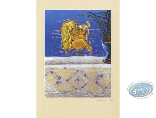 Ex-libris Offset, Atalante : La baignade
