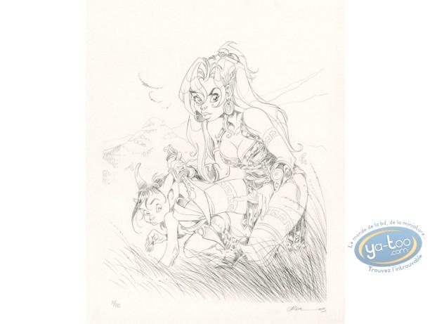 Lithographie, Atalante : Atalante et Pyros