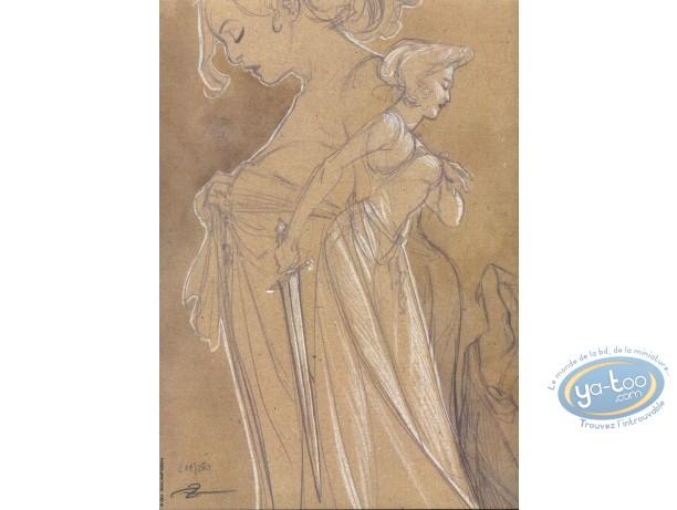 Ex-libris Offset, 3ème Testament (Le) : Crayonné de femme