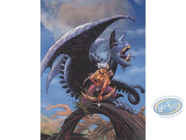 Affiche Offset, Conquerants de Troy (Les) : Exil à Port-Fleuri (fond bleu)
