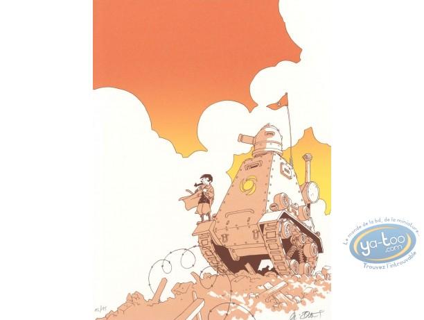 Affiche Sérigraphie, Sillage : Le tank