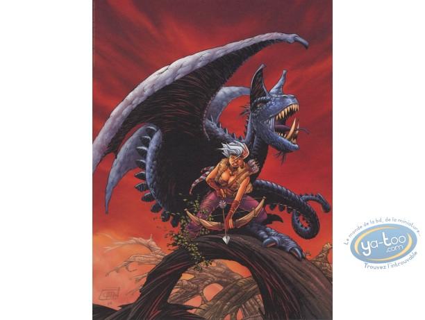Affiche Offset, Conquerants de Troy (Les) : Exil à Port-Fleuri (fond rouge)