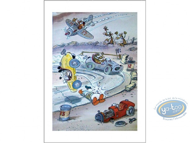 Affiche Offset, Pacush Blues - Les rats : Course auto
