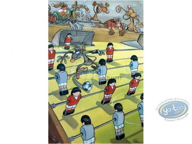 Affiche Offset, Pacush Blues - Les rats : Mondial Foot