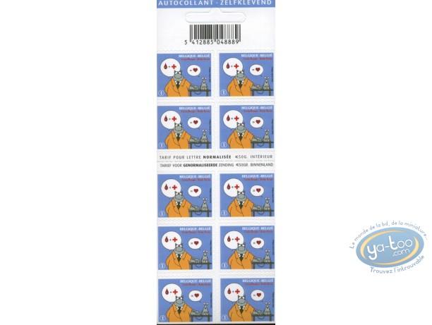 Timbre, Chat (Le) : Planche de 10 timbres, Le Chat