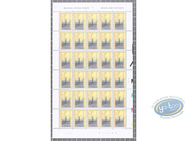 Timbre, Cités Obscures (Les) : Planche de 30 timbres Maison du Roi