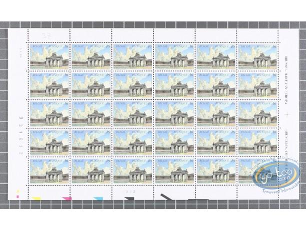 Timbre, Cités Obscures (Les) : Planche de 30 timbres Cinquantenaire
