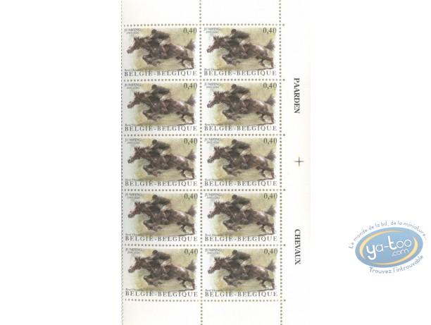 Timbre, Planche de 10 timbres jumping