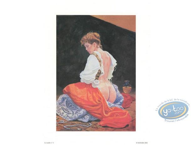 Affiche Offset, Manara : La modèle N°2, Manara