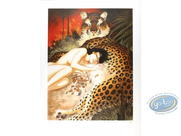 Affiche Sérigraphie, Zoo : Zoo Le ventre de la panthère