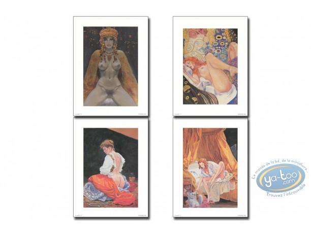Affiche Offset, Manara : La modèle N°1 à 4, Manara
