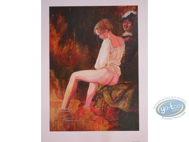 Affiche Offset, Manara : La modèle N°6, Manara
