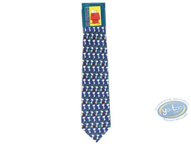 Vêtement, Snoopy : Cravate, Snoopy marchant  bleue