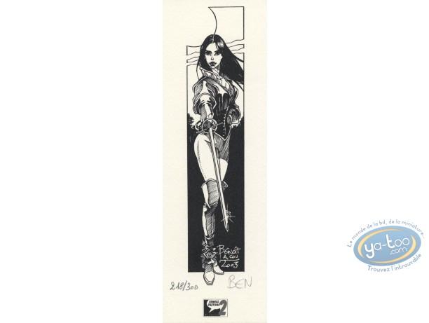 Ex-libris Offset, Hauteclaire : Femme à l'épée