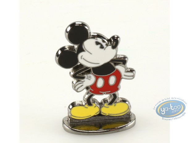 Figurine métal, Mickey Mouse : Mickey mains sur hanches (bas relief), Disney
