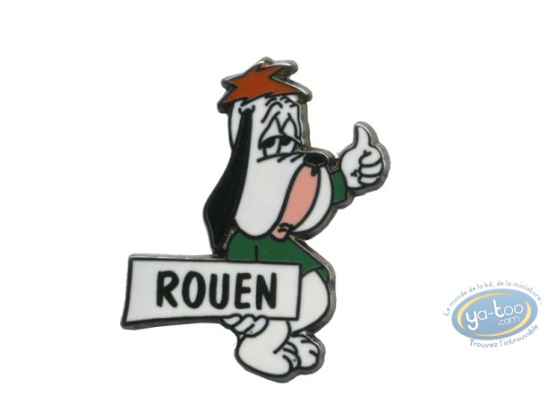 Pin's, Tex Avery : Droopy auto stoppeur 'Rouen'