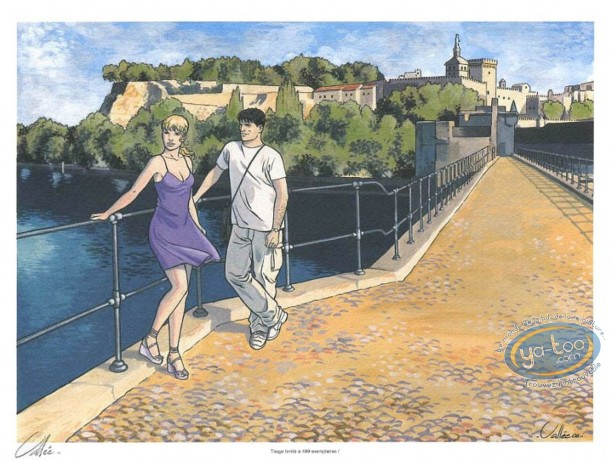 Ex-libris Offset, Gil Saint André : Le pont d'Avignon
